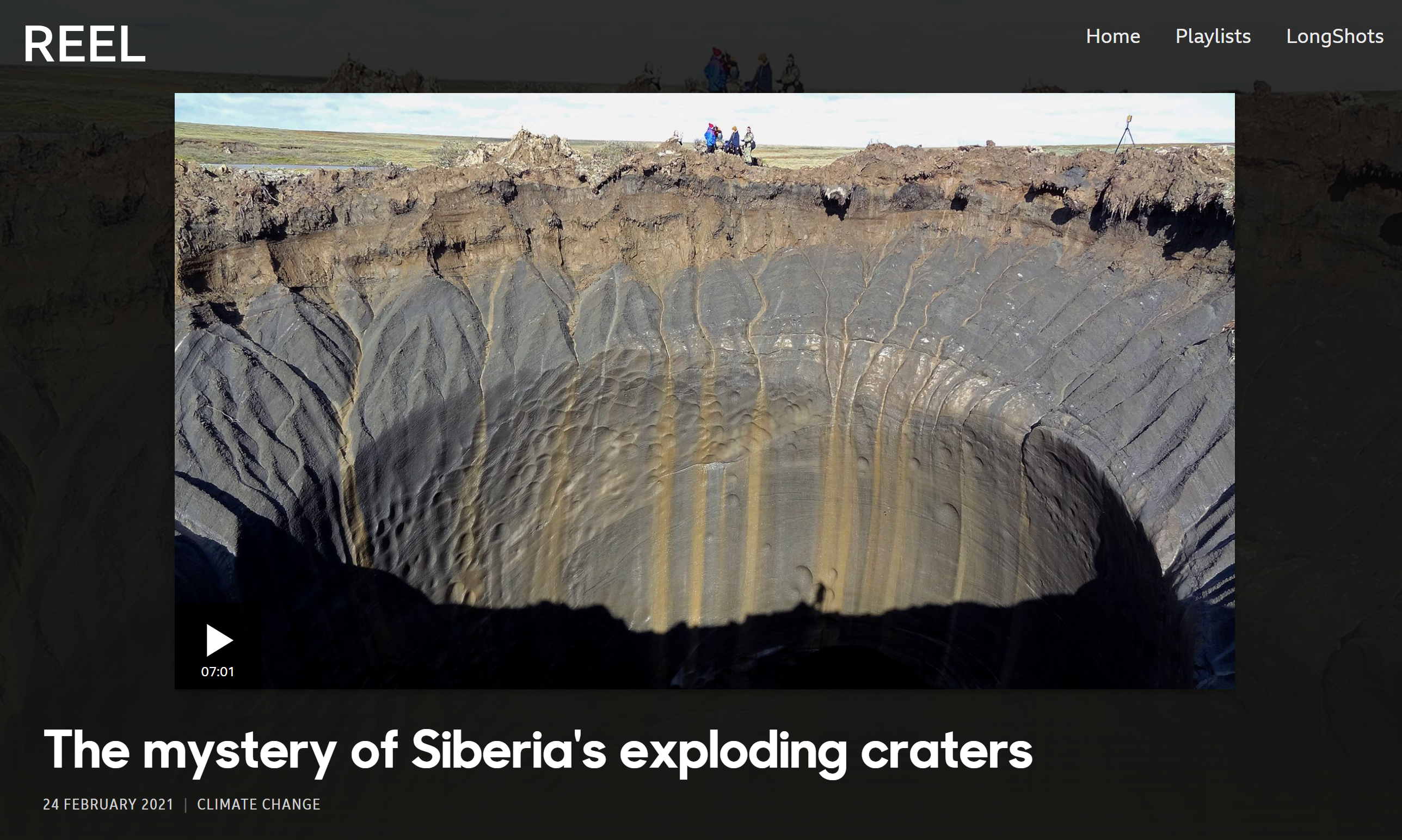 BBC Reel of The Mystery of Siberia's Exploding Craters