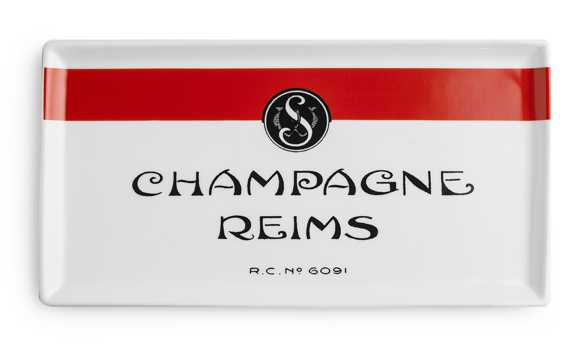Champagne Reims serving tray