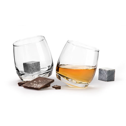 Sagaform Whisky Glasses and Stones set