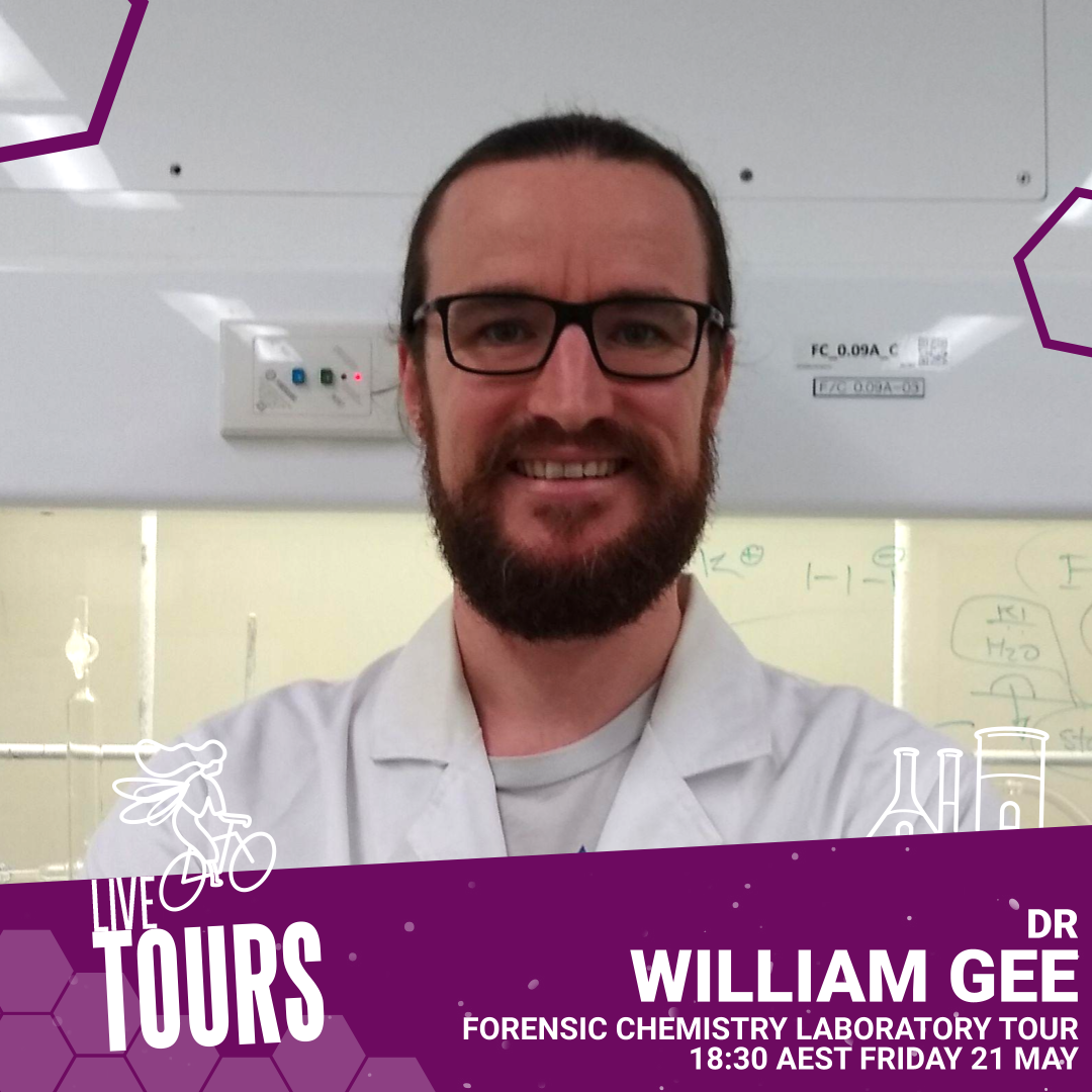 Branded image: Live Tours - Forensic Chemistry Lab with Dr William Gee
