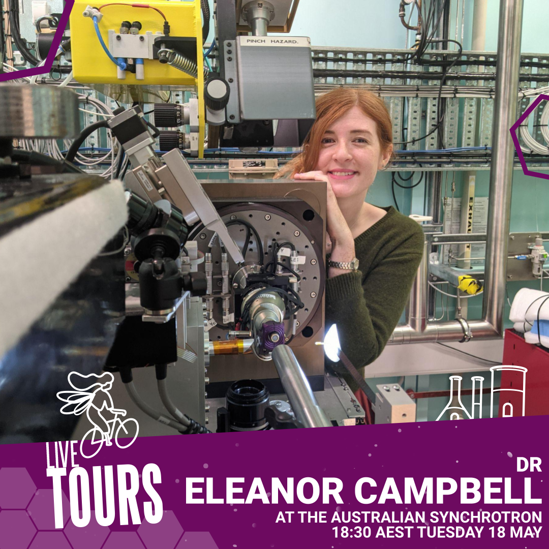 Branded image: Live Tour - The Australian Synchrotron with Dr Eleanor Campbell