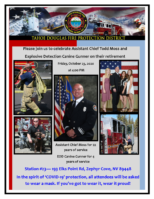 Assistant Chief Todd Moss Retirement