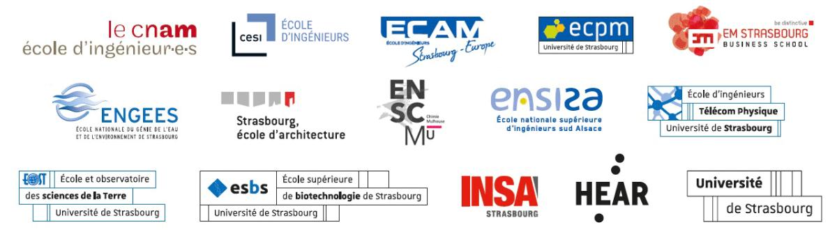Logos des 15 établissements coorganisateurs