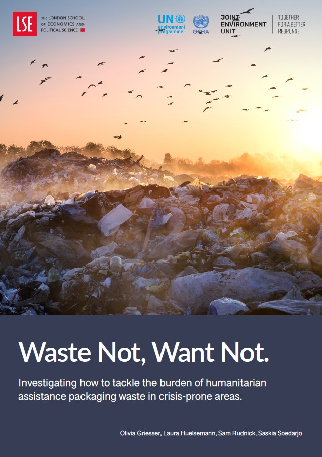 Cover page of the Waste Not, Want Not report by London School of Economics..