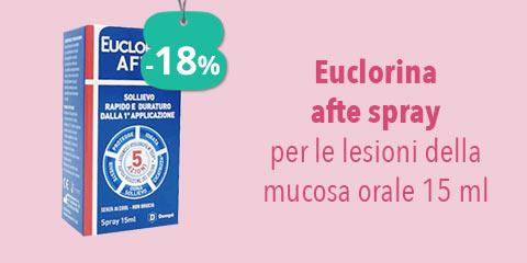 Euclorina afte spray per le lesioni della mucosa 15 ml