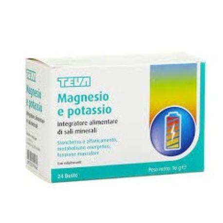 Magnesio Potassio Teva integratore alimentare 24 Buste