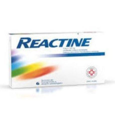 Reactine 6 Compresse per le Riniti Allergiche 5mg +120 mg