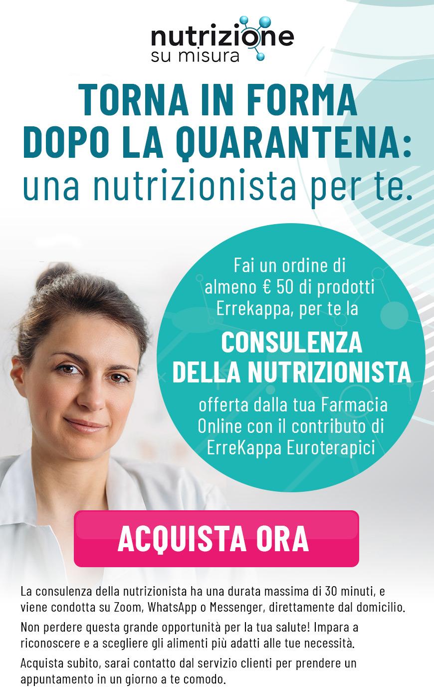 Fai un ordine di almeno €50 di prodotti Errekappa, per te la consulenza della nutrizionista