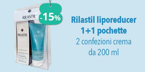 Rilastil Liporeducer 1+1 pochette 2 confezioni crema da 200 ml
