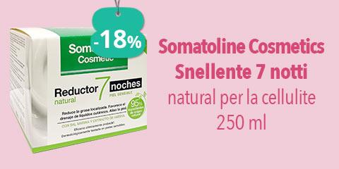 Somatoline Cosmetics Snellente 7 notti natural per la cellulite 250 ml