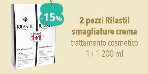 2 pezzi Rilastil smagliature crema trattamento cosmetico 1+1 200 ml