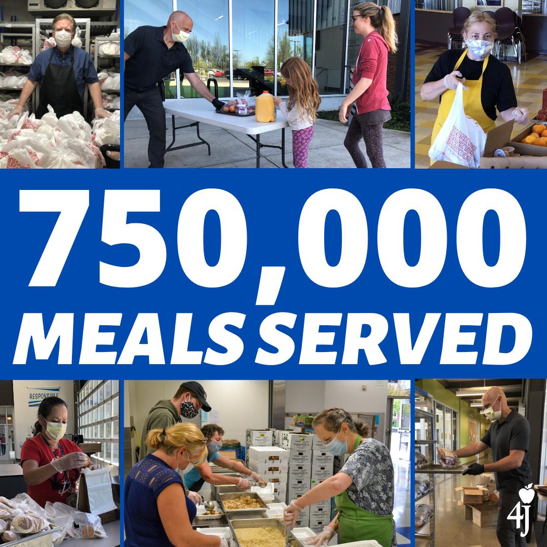 750,000 meals served