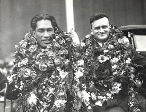 George Dad Center (at right) with Duke Kahanamoku