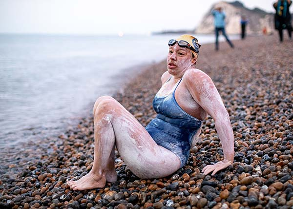 Open water swimmer Sarah Thomas