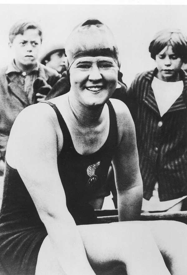 Gertrude Ederle, pioneer open water swimmer