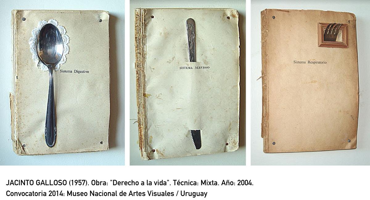 "JACINTO GALLOSO (1957). Obra: ""Derecho a la vida"". Técnica: Mixta. Año: 2004. Convocatoria 2014: Museo Nacional de Artes Visuales / Uruguay"