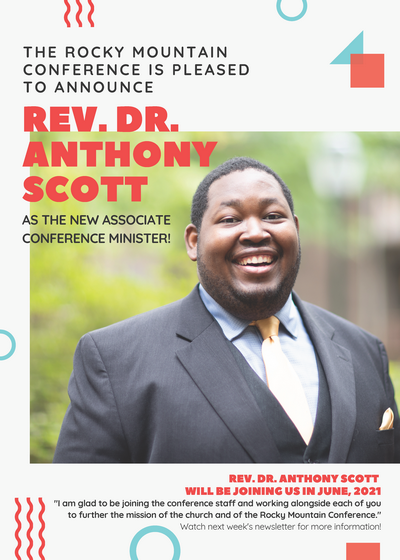Announcing our NEW Associate Conference Minister: Rev. Dr. Anthony Scott