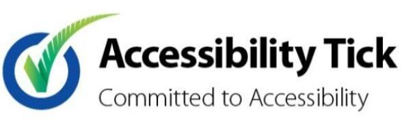 Accessibility Tick, Committed to Accessibility