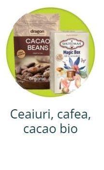 Ceaiuri, cafea, cacao bio