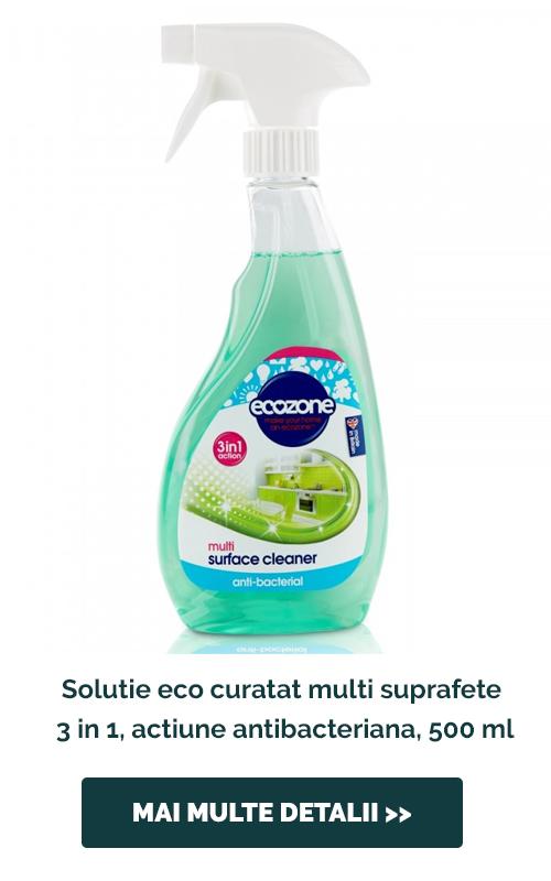 Solutie eco curatat multi suprafete 3 in 1, actiune antibacteriana, 500 ml
