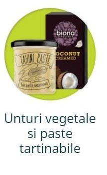 Unturi vegetale si paste tartinabile