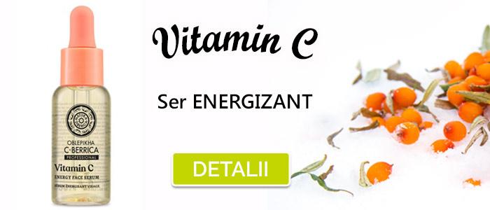 Ser energizant pentru ten cu Vitamina C si catina