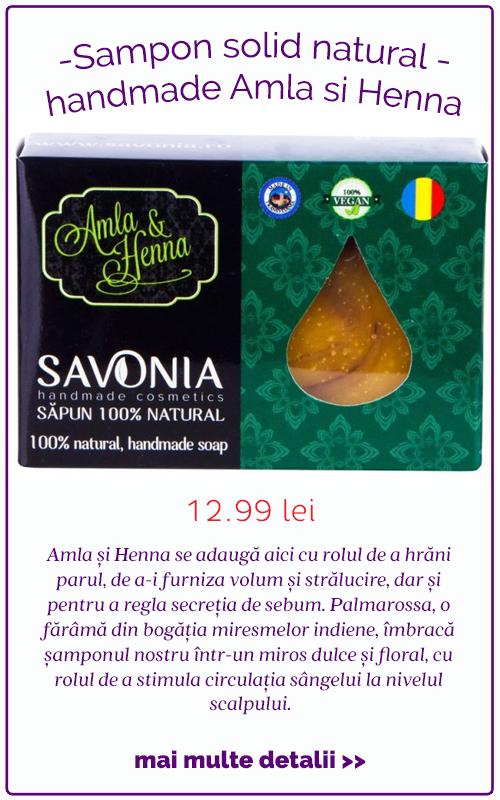Sampon solid natural handmade Amla si Henna - Savonia