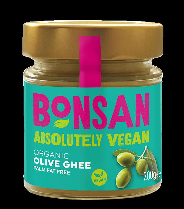 Unt Ghee Vegan din ulei de masline eco, 200g - Bonsan