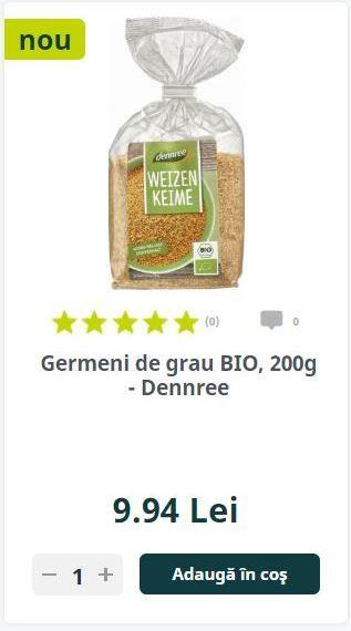 Germeni de grau BIO, 200g - Dennree