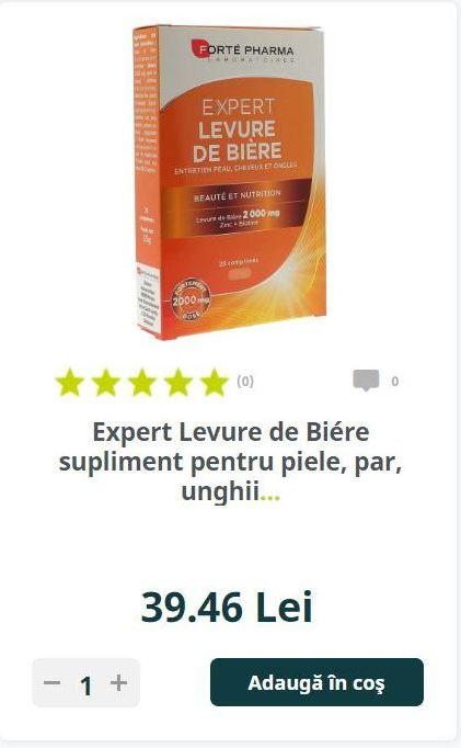 Expert Levure de Biére supliment pentru piele, par, unghii..
