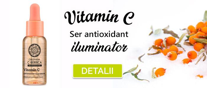 Ser antioxidant iluminator pentru ten cu Vitamina C