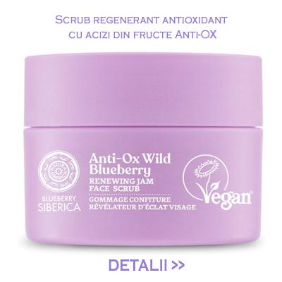 Scrub regenerant antioxidant cu acizi din fructe,