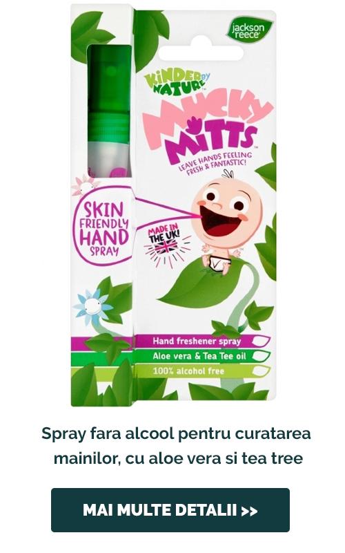 Spray fara alcool pentru curatarea mainilor, cu aloe vera si tea tree, 10ml -