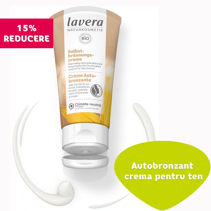 Autobronzant crema pentru ten, 50 ml - LAVERA