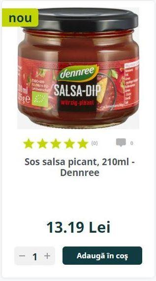 Sos salsa picant, 210ml - Dennree