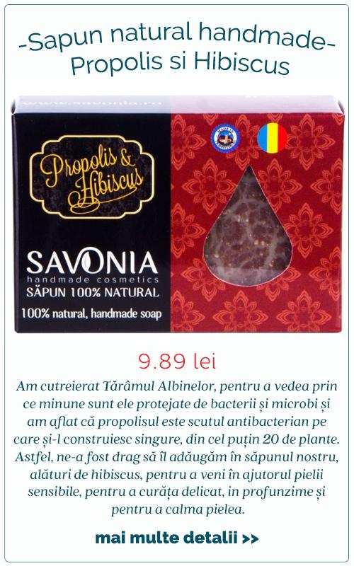 Sapun natural handmade Propolis si Hibiscus - Savonia