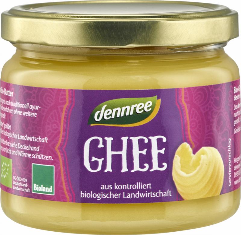 Unt ghee (unt clarifiat) BIO, 240g - Dennree