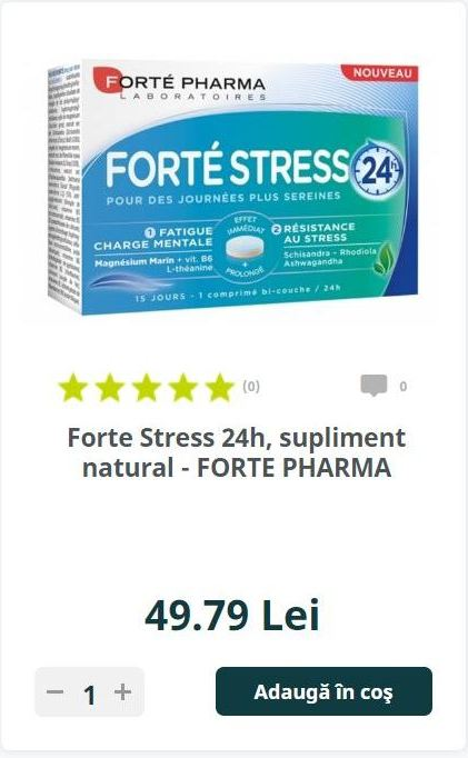 Forte Stress 24h, supliment natural - FORTE PHARMA