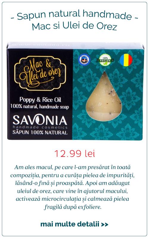 Sapun natural handmade Mac si Ulei de Orez - Savonia