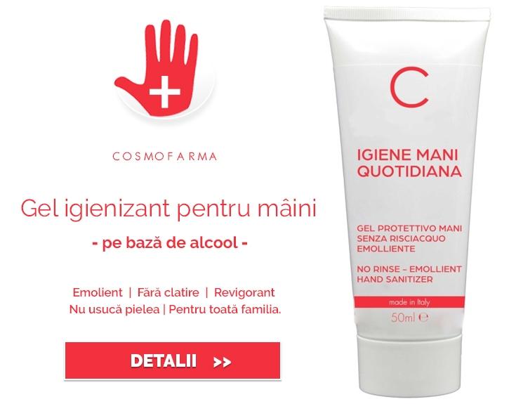 Gel igienizant pentru maini, 50ml - Cosmofarma