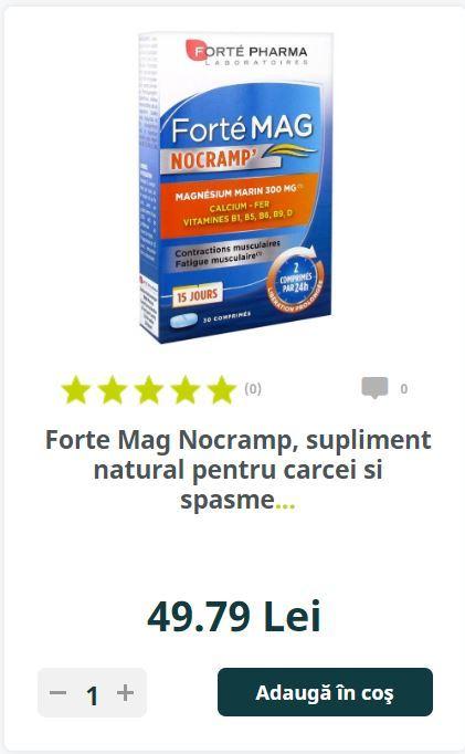 Forte Mag Nocramp, supliment natural pentru carcei si spasme