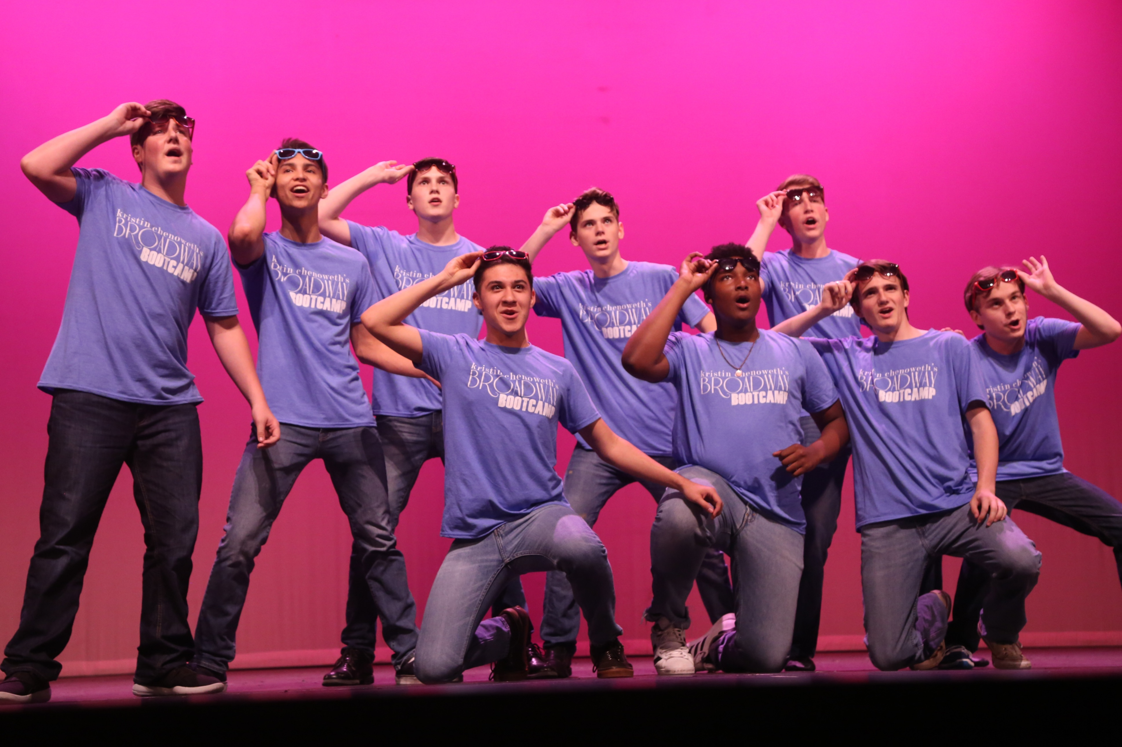 KCBBC Guys performing ON BROADWAY - photo by Bruce Glikas