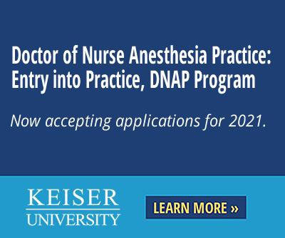 Keiser University: Doctor of Nurse Anesthesia Practice