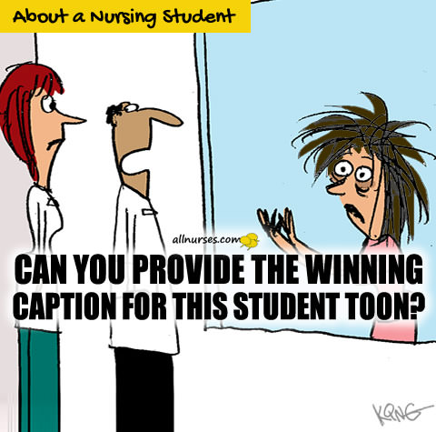 Can you provide the winning caption for this student toon?