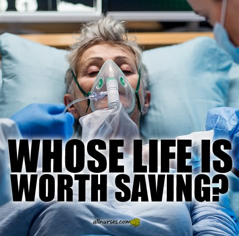 Whose life is worth saving?