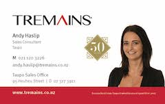 Andy Haslip Tremains Real Estate Taupo Wairakei Primary School Newsletter sponsor