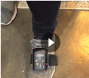 Using the PAM 2 to do ankle dorsiflexion and extension exercises