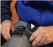 Using the PAM 2 to give feedback on hip flexion while walking