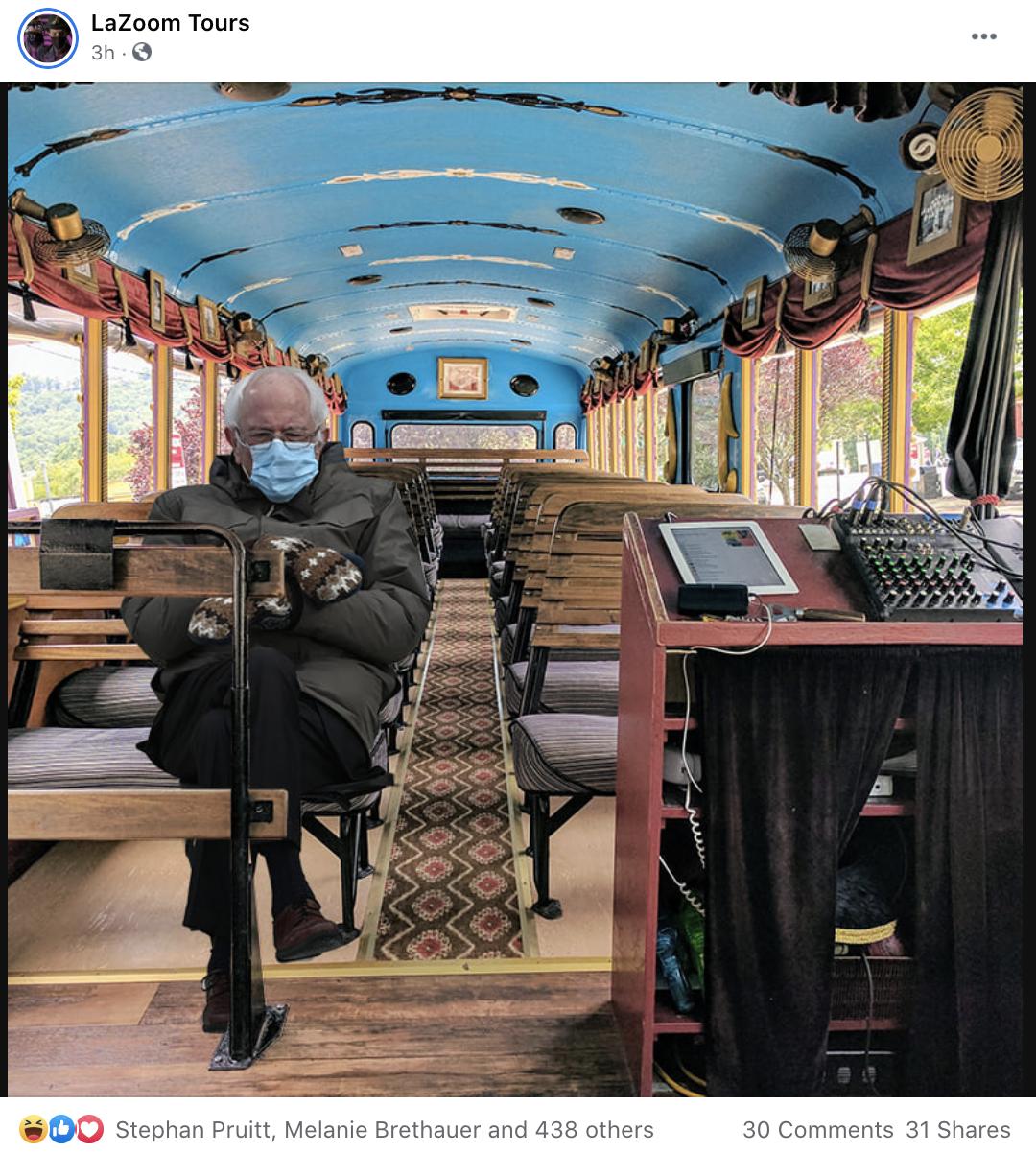 bernie_on_lazoom_bus