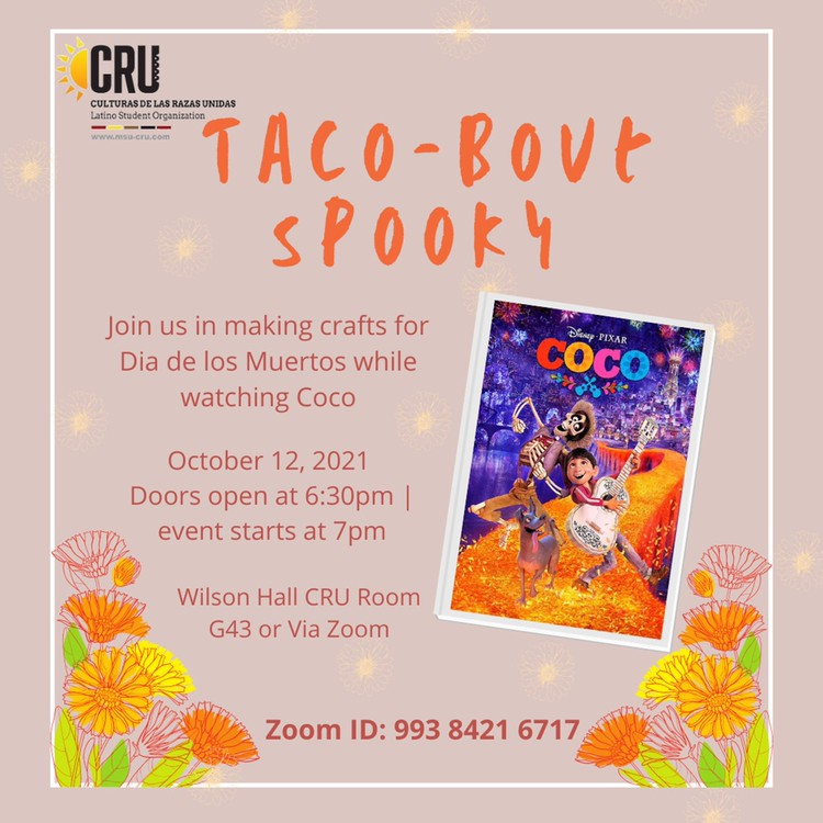 MSU CRU: Taco-Bout Spooky @ Wilson Hall, CRU Room